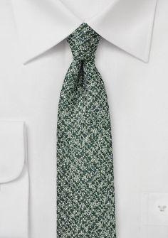 Krawatte Wolle marmoriert edelgrün