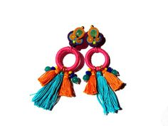Monika  eye-catching soutache earrings boho ethnic unique