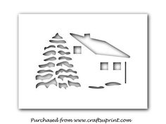 CHRISTMAS HOUSE WITH TREE PDF SVG on Craftsuprint designed by Apetroae Stefan - In pdf and svg format - Now available for download!