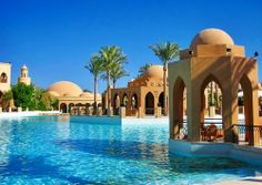Makadi Palace, Hurghada, Egypt by Werner Boehm . Vacation Places, Dream Vacations, Vacation Spots, Places To Travel, Oh The Places You'll Go, Places To Visit, Beautiful World, Beautiful Places, Places In Egypt