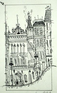 Drawing Buildings , Sketchbook , with thanks to sharackula, Resources for Art… Illustration Sketches, Illustrations, Kitsch, Town Drawing, Art Et Architecture, Building Sketch, Ink Pen Drawings, Artist Sketchbook, Urban Sketching