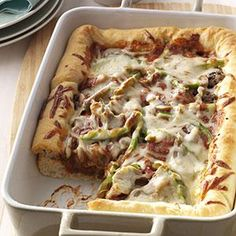 Deep-Dish Pizza - haven't made, but looks really good !! this might be a trier (sp)