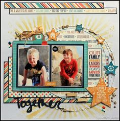 About life, creativity, photography and faith Baby Scrapbook Pages, Kids Scrapbook, Scrapbook Paper Crafts, Scrapbook Albums, Scrapbook Cards, Scrapbook Layout Sketches, Scrapbooking Layouts, Picture Layouts, Kids Pages