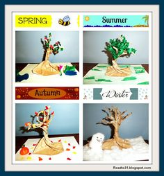 Teaching the Four Seasons Craft Tutorial: Teach Spring, Summer, Fall, and Winter with this fun craft for really any elementary age. Get as creative as you want! Easy Arts And Crafts, Crafts To Do, Crafts For Kids, Autumn Crafts, Summer Crafts, Craft Activities For Kids, Educational Activities, Crafts With Pictures, School Projects