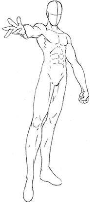 Draw Manga Male: Taking shape athletic
