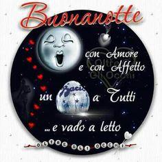 Buonanotte Good Night, Good Morning, Einstein, Birthday Cards, Christmas Bulbs, Holiday Decor, Dolce, Irene, Santa