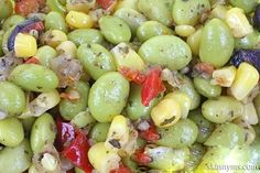 Southern Succotash- Yum, love it. You can use frozen lima beans and tastes great with all the corn still in season;). #succotashrecipe #cornrecipe #limabeans