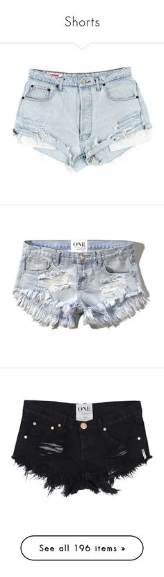 """Shorts"" by elewis55 ❤ liked on Polyvore featuring shorts, bottoms, pants, short, denim shorts, ripped shorts, frayed shorts, cut off short shorts, vintage denim shorts and destroyed light wash"