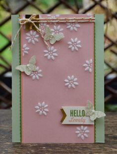 Love this dry embossing technique using textured impressions embossing folders.