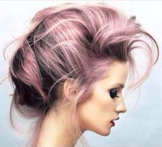 Brown to pink ombré updo...sexy and romantic
