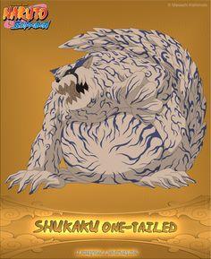 One-Tailed Shukaku by alxnarutoall.deviantart.com on @deviantART