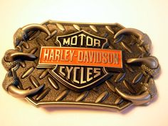 Harley Davidson Talon Eagle Claw Belt Buckle - Motor cycles Belts and buckles