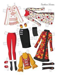 Cartoon Paper, Paper Dolls Clothing, Professional Wardrobe, Doll Wardrobe, Build Your Own, Bridal, Winter Wardrobe, Mix Match, Etsy