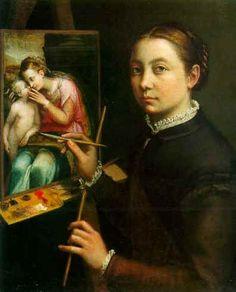 Autorretrato de Sofonisba. Realizado en el año 1556, por Sofonisba Anguissola. La obra se encuentra en el Museo Lancut, Polonia. Sofonisba Anguissola (1532-1625) fue una pintora italiana. Su importancia se debe a ser conocida como la primera mujer pintora de éxito del Renacimiento y una de las primeras mujeres en ser tenidas en cuenta. Sus retratos son parecidos en técnica y estilo, se le adjudica un significativo papel como eslabón entre el retrato italiano y el español, además de notable…