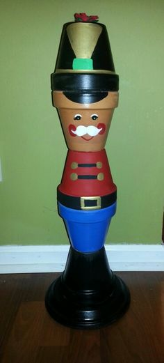 Terra cotta pot #nutcracker
