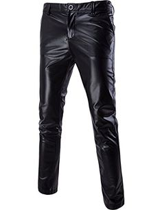 ZEROYAA Mens Night Club Metallic Gold Suit Pants/Straight Leg Trousers