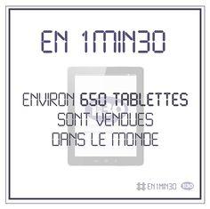 #En1min30 environ 650 tablettes sont vendues dans le monde