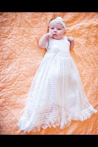 Crocheted blessing/ christening dress.