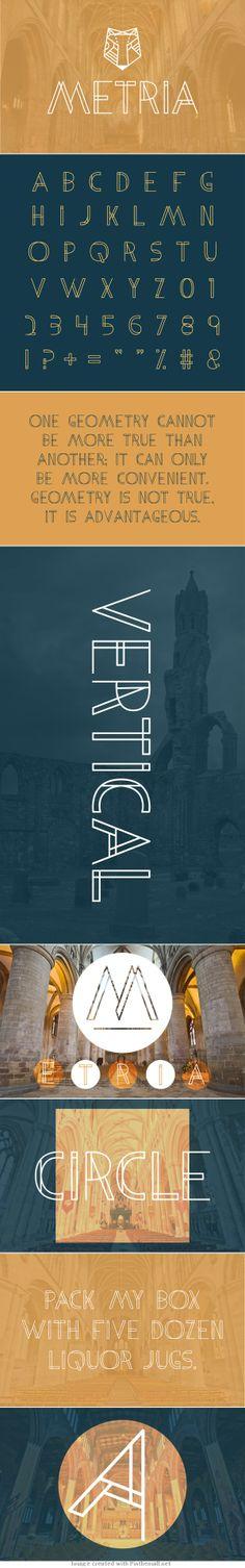 Metria :: Free font