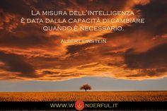 La misura dell'intelligenza è data dalla capacità di cambiare quando necessario. #Einstein #cambiamento