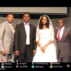 #2014ThanksGiving has started. This is #1of3weddings in Family Worship Centre, today. This is why we thank God. Congratulations to Darlington Emenike Adibe andFlorence Ijeoma Chigbatah