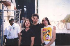 yet another classic! Eddie Vedder, Chris Cornell and Johnny Ramone - Lollapalooza, 1996