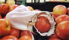 This reader is so opposed to using use disposable plastic bags for fruits and vegetables she figured out how to make reusable produce bags from cloth.---Use old hosiery?
