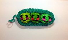 3-D Happy Peas in a Pod Tutorial (Rainbow Loom) by Feelin' Spiffy.