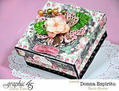 Mon Amour sweets box and tutorial by Donna #graphic45
