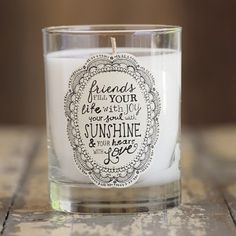 Natural Life Soy Candles #candles #friends #greatgifts