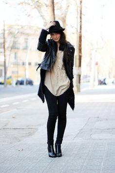 """Black Chelsea Wedges H Boots, Black Denim Jeans H Jeans, Black Zara Hats 