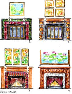 Picking and Hanging the RIGHT size Picture or Mirror over your Fireplace