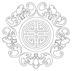 chinese embroidery patterns | These beautiful embroidery patterns are perfect to be used as coloring ...