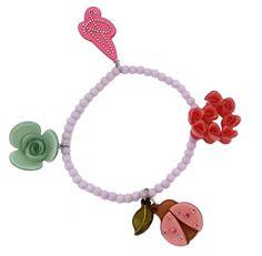 Ladybug & Flowers Charm Bracelet