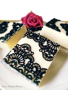 Elegant Lace Soap Jasmine Soap All Natural by EminaBotanicBoutique