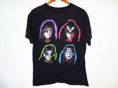 Vintage 90s KISS Band shirt medium 90s grunge by BLACKMAGIKA