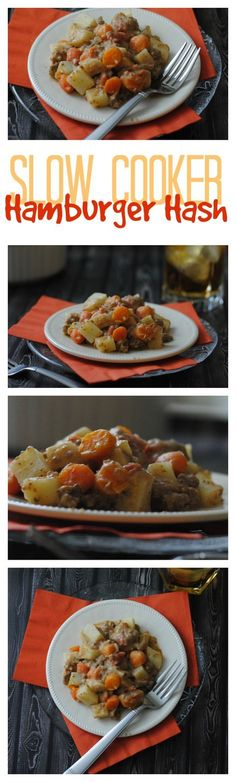Hamburger Hash Slow Cooker Recipe,,,,this is one of the BEST crock pot meals I've ever made! My family requests it all the time. One Dish Meal; Kid Friendly Recipe; Easy Dinner