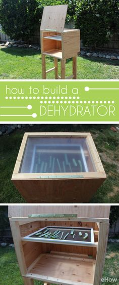 Building a sun-powered food dehydrator is a great alternative to an electric dehydrator. You can make your own delicious dried fruits, vegetables and herbs!  http://www.ehow.com/how_2310039_build-dehydrator.html?utm_source=pinterest.com&utm_medium=referral&utm_content=freestyle&utm_campaign=fanpage