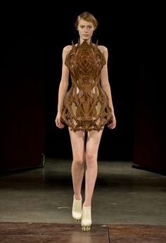 Iris van Herpen's designs demonstrate fashion as art. Her creations are clear artistic statements through which women can express their unique character. It is no surprise that Bjork and Lady Gaga are part of her devoted clientele.