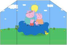 Convite Envelope Peppa Pig e Família: