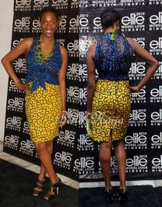 Ankara print -  luv the back!