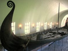 The Oseberg ship and some of its contents are displayed at the Viking Ship Museum, in Bygdøy, Norway.