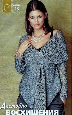 Fabulous Crochet a Little Black Crochet Dress Ideas. Georgeous Crochet a Little Black Crochet Dress Ideas. Cardigan Au Crochet, Crochet Jacket, Crochet Scarves, Crochet Shawl, Crochet Clothes, Knit Crochet, Crochet Sweaters, Crochet Tops, Pull Crochet