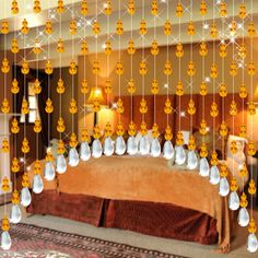 White 9 99 Fashion Decorative String Curtain With 3
