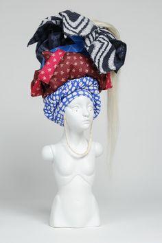 "Eiko, a ""porcelain soldier"", sculpture by Lauren Brevner (September 2014)"