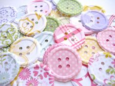 100 Embossed Fresh Floral  Buttons punch die by ThePrettyPaperShop, $3.00