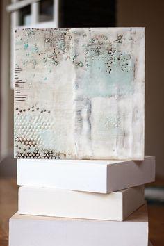 homescraphome: Encaustic means . Encaustic Painting, Painting Art, Paintings, Wax Art, Altered Canvas, Texture Art, Art Techniques, Collage Art, Art Boards