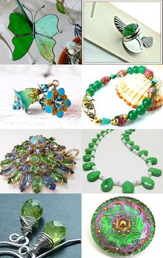 Beautiful Emerald Greens from the #onfireteam filled with #jewelry #accessories and #decor