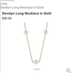 ISO Devalyn Necklace in Gold At hopefully a better price than retail.  Kendra Scott Jewelry Necklaces