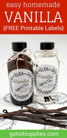 labels i made for the homemade vanilla extract wedding favors